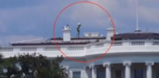 """Турист из Китая заснял на крыше Белого Дома """"пришельца"""""""