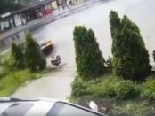 В Харькове авто разорвало на куски, а водитель не получил и царапины (видео инцидента)