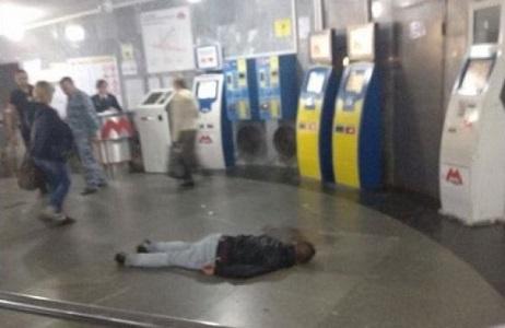 В Харьковском метрополитене обнаружен мужчина в крови