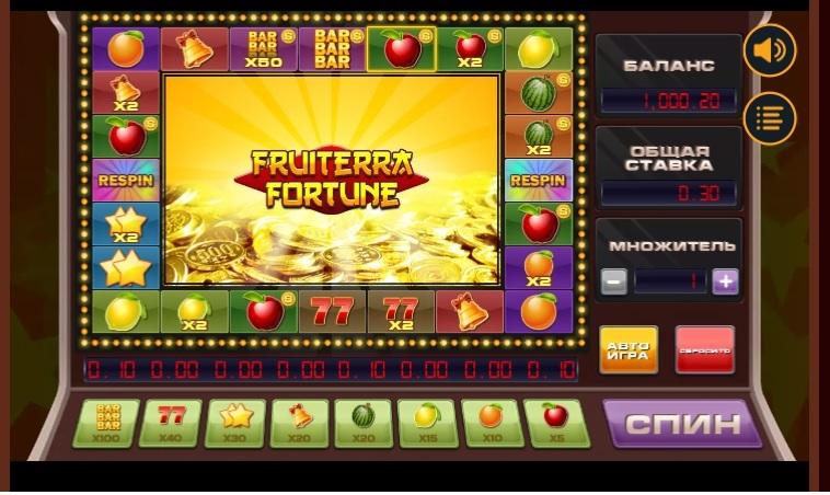 игровой автомат Fruiterra от Booongo