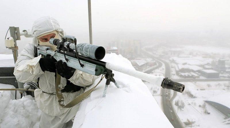 Снайпер замаскировался в зимнем лесу. Попробуйте вычислить позицию стрелка