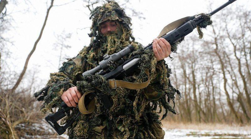 Попробуйте найти снайпера в лесу и на открытой местности - проходимость теста высокая