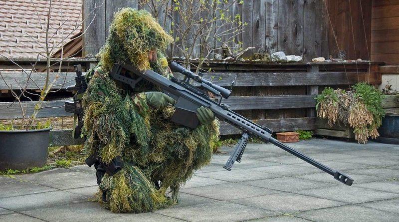 Снайпер занял позицию в сухой траве - попробуйте определить место нахождения стрелка