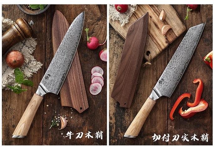 Кухонные ножи из дамасской стали