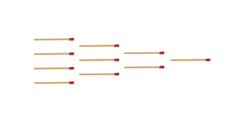 Попробуйте развернуть комбинацию спичек в обратную сторону